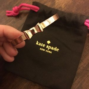 Rose Gold Kate Spade Bow Bracelet